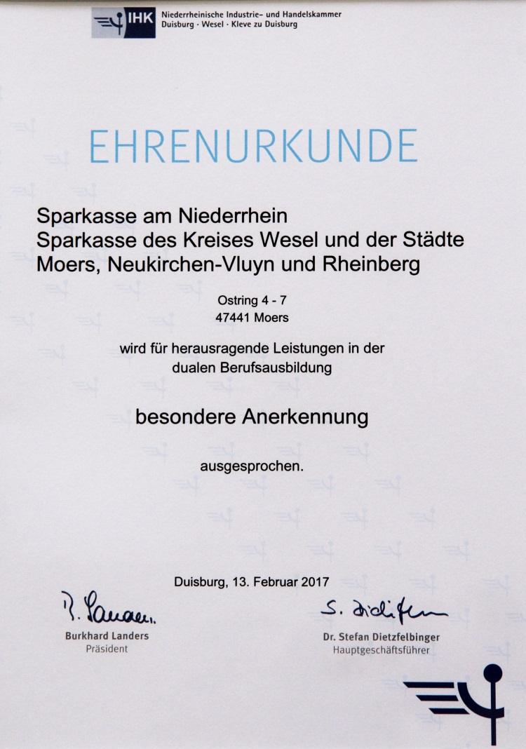 Spannend ab dem ersten Tag - Sparkassen-Kurier – Die Online-Zeitung der  Sparkasse am Niederrhein